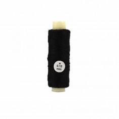 Accessoire pour maquette de bateau en bois : Fil de coton noir ø 0,15 mm : 40 mètres