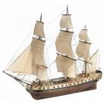 Maquette bateau en bois : Hermione La Fayette