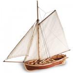 Maquette bateau en bois : H.M.S. Bounty's Jolly Boat