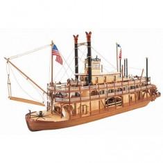 Maquette bateau en bois : Mississippi