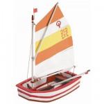 Maquette de bateau en bois: Kit d'initiation: Optimist