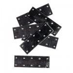 Accessoire pour maquette de bateau en bois : Plaque d'aluminium 25 x 10 mm