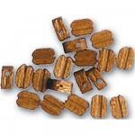 Accessoire pour maquette de bateau en bois : Poulie 3 mm : Nogal