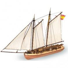 Maquette bateau en bois : Principe de Asturias : Canot du capitaine