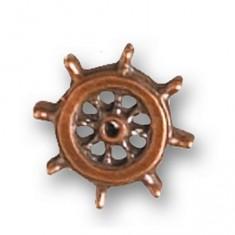 Accessoire pour maquette de bateau en bois : Roue de gouvernail ø 14 mm