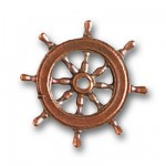Accessoire pour maquette de bateau en bois : Roue de gouvernail ø 20 mm
