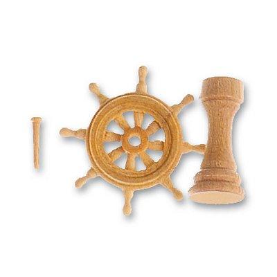 Accessoire pour maquette de bateau en bois : Roue de gouvernail  en bois 20 mm - Artesania-8572