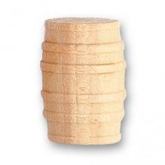 Accessoire pour maquette de bateau en bois : Tonneau en bois ø 15mm