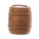 Accessoire pour maquette de bateau en bois : Tonneau en bois ø 18 mm : Nogal