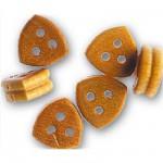 Accessoire pour maquette de bateau en bois : Triple cap de mouton 7 mm