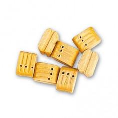 Accessoire pour maquette de bateau en bois : Triple moufles 7 mm