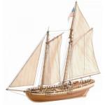 Maquette bateau en bois : Virginia American Schooner : Goélette américaine