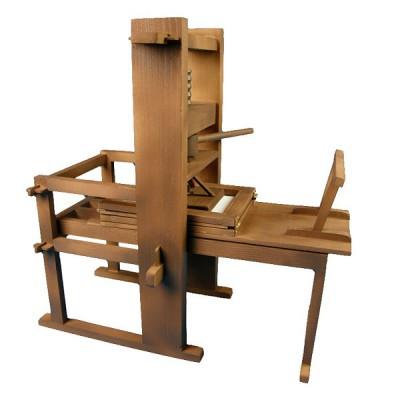 Maquette en bois et métal: Heritage collection : Imprimante de Gutenberg - Artesania-20321