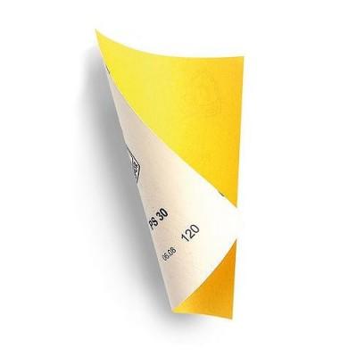 Papier abrasif : Set de 4 papiers moyens : Jaune - Artesania-27635