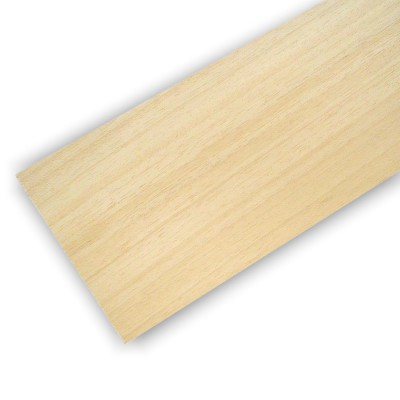 Planche en bois de balsa : 100 x 1000 x 1 mm - Artesania-90010