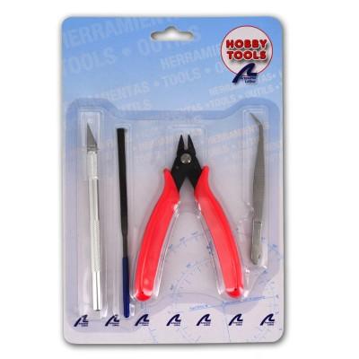 Set basique d'outils pour maquettes en plastique - Artesania-27050-1
