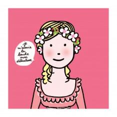 Serviettes en papier Les princesses : Je m'essuie la bouche avec délicatesse