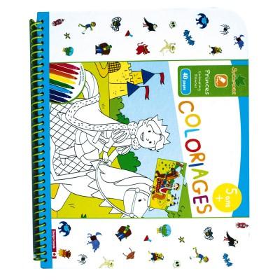 Cahier de coloriages princes jeux et jouets au - Cahier de coloriage disney ...