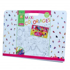 Cahier de coloriages géant : Maxi coloriages Jumbo Fille