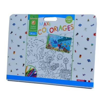Cahier de coloriages g ant maxi coloriages jumbo gar on jeux et jouets au sycomore avenue - Maxi coloriage ...