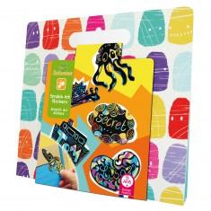 Pochette créative : Scratch Art Stickers