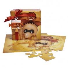 Puzzle 25 pièces : Coffret Collection Super Dino : Rouge