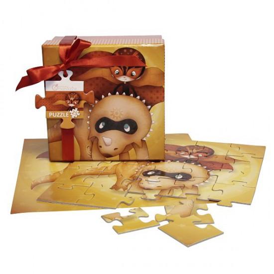 Puzzle 25 pièces : Coffret Collection Super Dino : Rouge - Mandarine-62217O