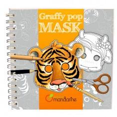 Carnet de coloriage et masques Graffy Pop Mask : Animaux