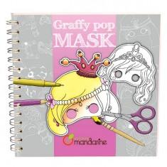 Carnet de coloriage et masques Graffy Pop Mask : Princesses