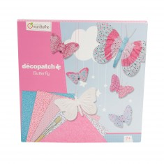 Coffret créatif Décopatch : Kit papillons