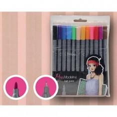 Crayons Miss Modeline : Pochette de 12 crayons doubles pointes : Noir