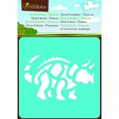 Pochoirs Set de 6 pochoirs : Dinosaures