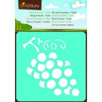 Pochoirs Set de 6 pochoirs : Fruits