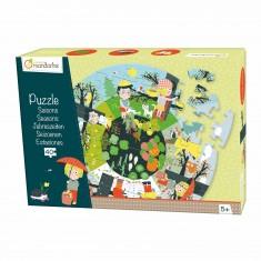 Puzzle géant 40 pièces : Les saisons