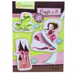 Puzzles de 25 à 33 pièces : 3 puzzles géants Princesses