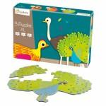 Puzzles de 4 à 8 pièces : 3 puzzles XL formes Animaux à plumes