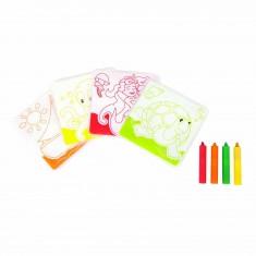 Cartes de bain à colorier et ses crayons