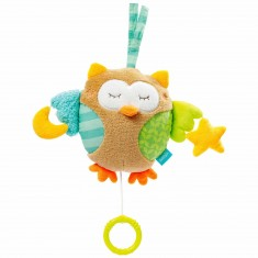 Peluche musicale recto-verso Sleeping Forest : Hibou