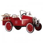 Voiture à pédales en métal Camion de pompiers