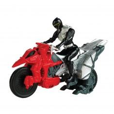 Figurine Power Ranger + Dino Cycle : Black Ranger