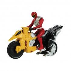 Figurine Power Ranger + Dino Cycle : Red Ranger