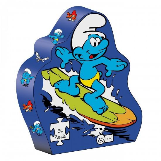 Puzzle 36 pièces : Puzzle Schtroumpf surf - BarboToys-68223