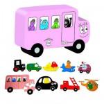 Puzzles de 4 à 8 pièces - 9 puzzles : Transport Barbapapa