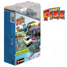 Diorama avec modèle réduit 1/43 : Open and Play Set Street Fire : Poste de police