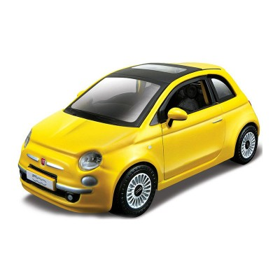 maquette voiture metal kit fiat 500 2007 jaune bburago rue des maquettes. Black Bedroom Furniture Sets. Home Design Ideas
