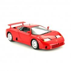 Modèle réduit de voiture de sport : Bugatti EB 110 rouge  : Echelle 1/18