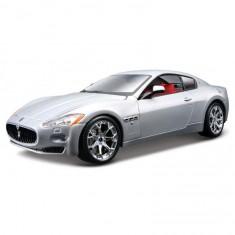 Modèle réduit de voiture de sport : Maserati Granturismo grise : Echelle 1/24