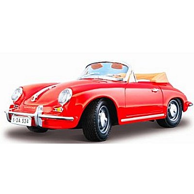 mod le r duit porsche 356 b cabriolet 1961 collection bijoux echelle 1 24 rouge jeux. Black Bedroom Furniture Sets. Home Design Ideas
