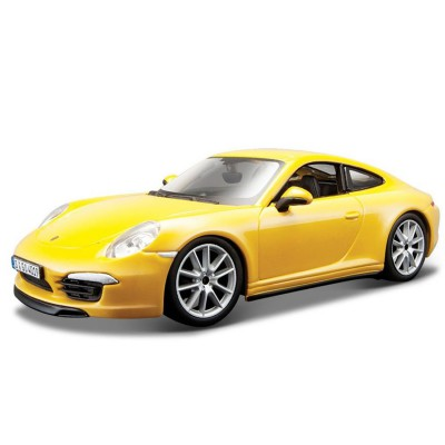 mod le r duit porsche 911 carrera s collection plus echelle 1 24 jaune jeux et jouets. Black Bedroom Furniture Sets. Home Design Ideas