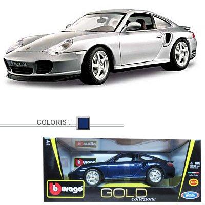Modèle réduit - Porsche 911 Turbo - Collection Gold - Echelle 1/18 : Bleu marine - BBurago-12030B